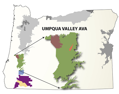Umpqua Oregon Map.Umpqua Southern Oregon Winery Association Your Guide To Wine In